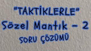 2) SÖZEL MANTIK - 2