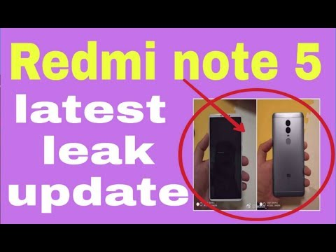 Tech NeWS:- redmi note 5 latest leak update!!!