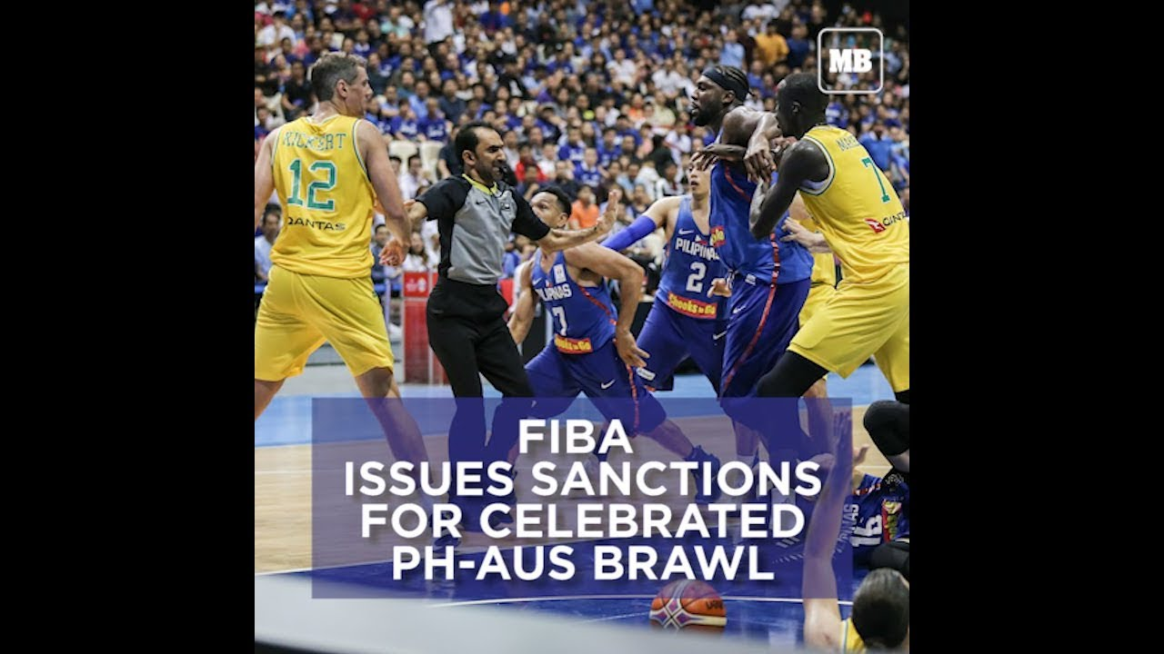 FIBA issues sanctions for celebrated PH-AUS brawl