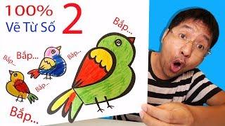 Hướng Dẫn Bé Bắp Bẽ Con Chim Thừ Số 2 Đơn Giản | Drawing A Bird From Number Two