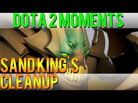 Dota 2 Moments - Sand King's Cleanup