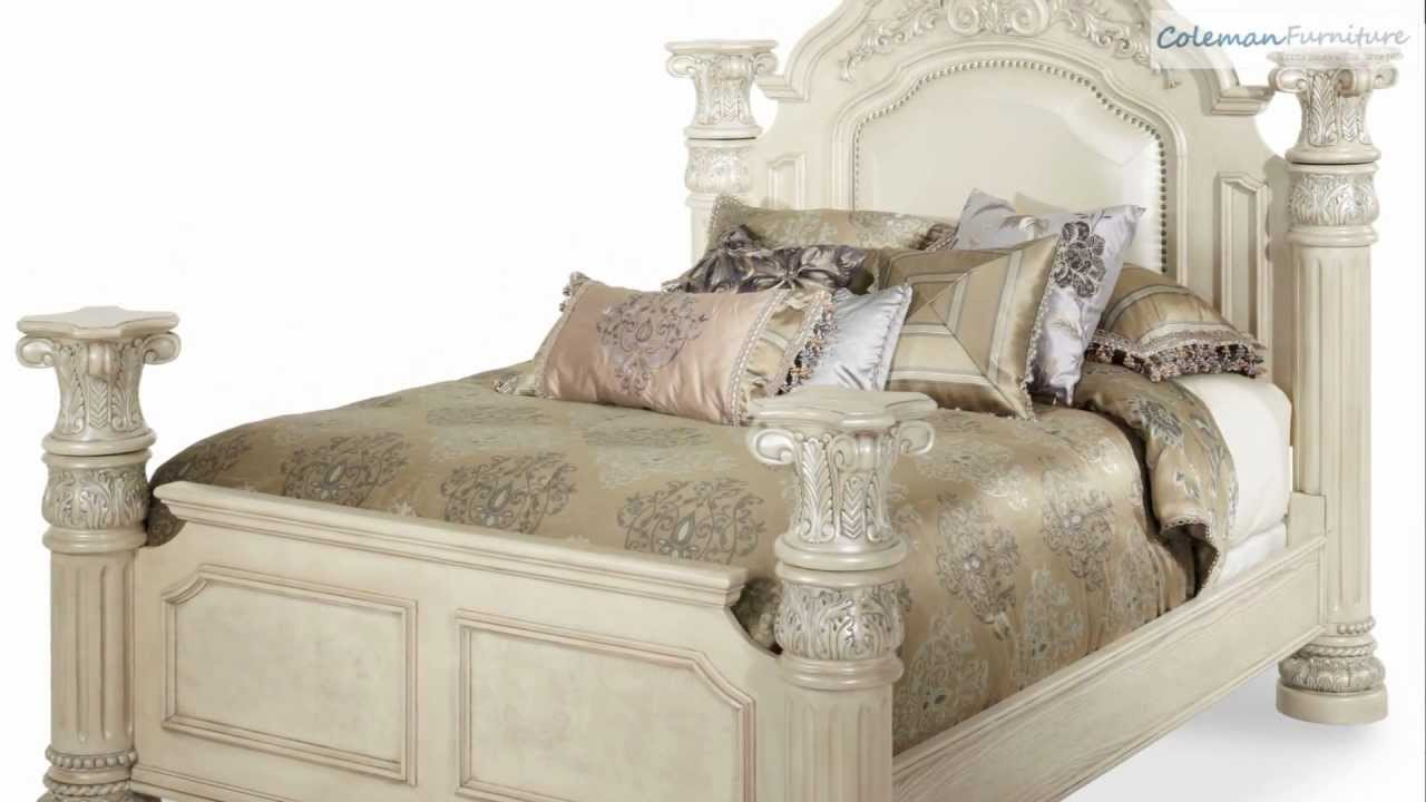 Monte Carlo Ii Silver Pearl Poster Bedroom Collection From Aico Furniture Youtube