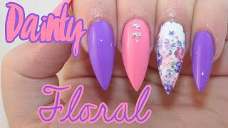 HOW TO: Dainty Floral Acrylic Nails