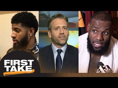 Max reacts to Paul George, LeBron James questioning officiating | First Take | ESPN