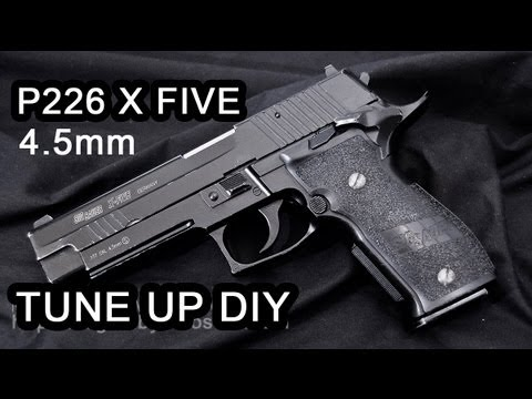 SIG SAUER P226 X-FIVE (4.5mm) - Improve Performance Tutorial and Chronograph Test