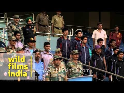 Crowd Stands For Ncc Song 'hum Sab Bharatiya Hain' video