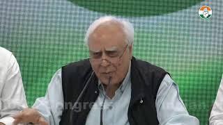 LIVE: Press briefing by former union minister Kapil Sibal on Demonetisation scam.