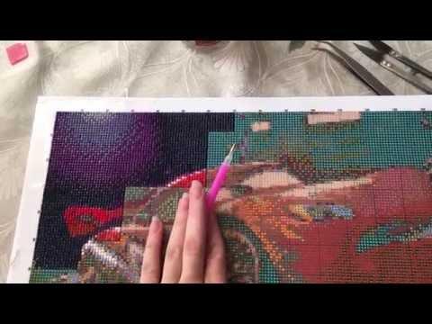 Как правильно вышивать алмазной вышивкой 937