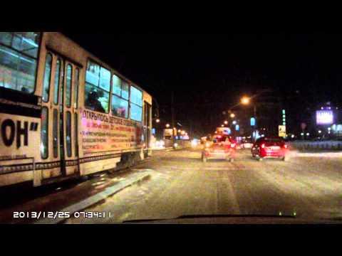 мазда против трамвая (Барнаул)