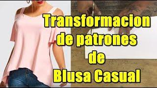 Como hacer los patrones de blusa casual