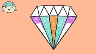 I'M DRAWING A DIAMOND 💎 Easy Drawing Tutorial and Coloring for Kids