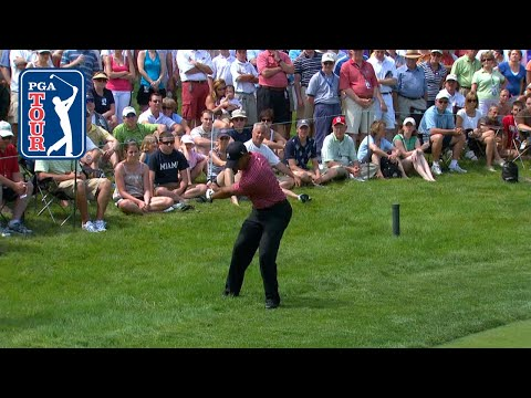 Tiger Woods' semi-flop hole out at 2008 Memorial