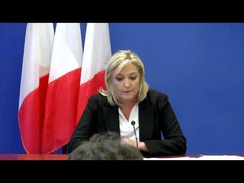 Suite aux attentats, Marine Le Pen présente l'analyse du Front National et ses propositions
