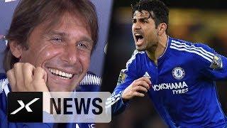 Diego Costa? Conte mit verrücktem Lachkrampf | FC Chelsea