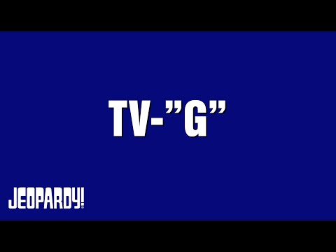 Tv G Category On Jeopardy