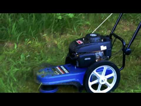 Hyundai Petrol Push Field Grass Trimmer/Strimmer HYFT56 In Use