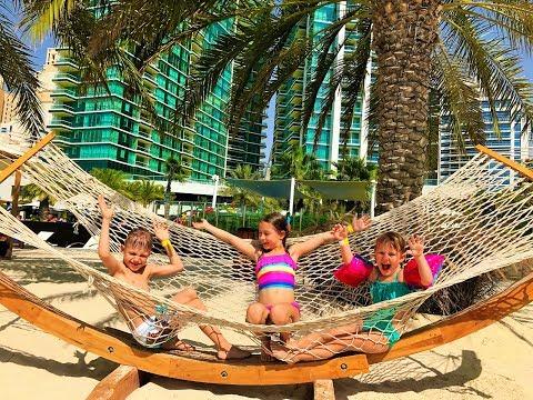 Отель Double Tree By Hilton в Дубае. Сходим с ума в бассейне:) Боб Марли, А лалала лонг