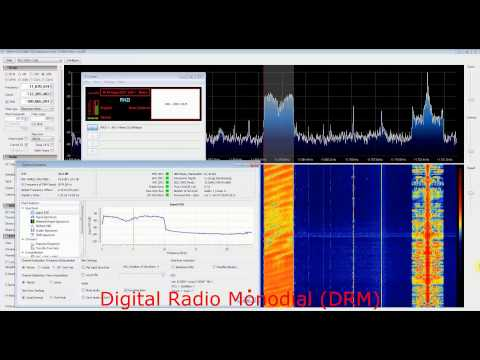 DRM  vs AM Radio NZ with RTL SDR (RTL2832), Nooelec Ham it up upconverter, DREAM and SDR Sharp