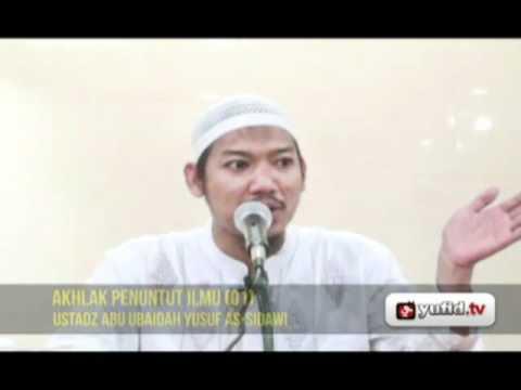 Pengajian Agama Islam Bahasa Indonesia: AKHLAK PENUNTUT ILMU (01)