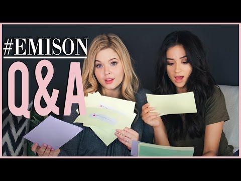 Emison Q&A Pt. 1 with Sasha Pieterse! | Shay Talk