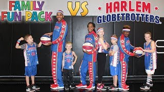 Family Fun Pack vs the Globetrotters!! Kids Join Professional Basketball Team