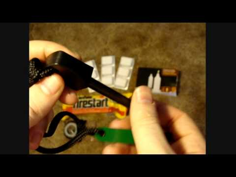 Fire Making Tools review . camping hiking backpacking emergancy kit how to