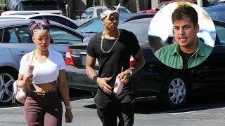 Blac chyna left BOYFRIEND for baby daddy Rob KArdashian ... #messy