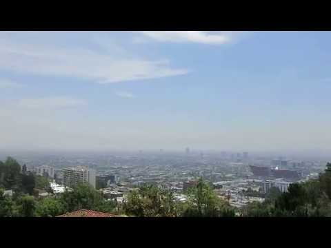 The beautiful views of Los Angeles today from the Hollywood Hills today.