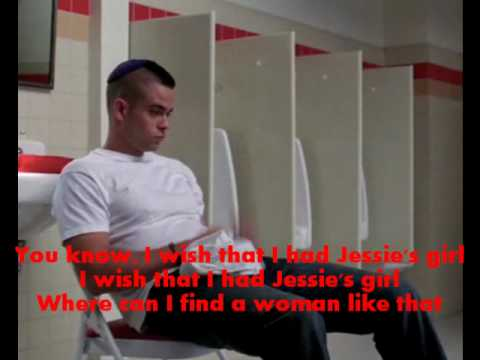 Glee - Jessies's Girl + Lyrics + Hq Audio video