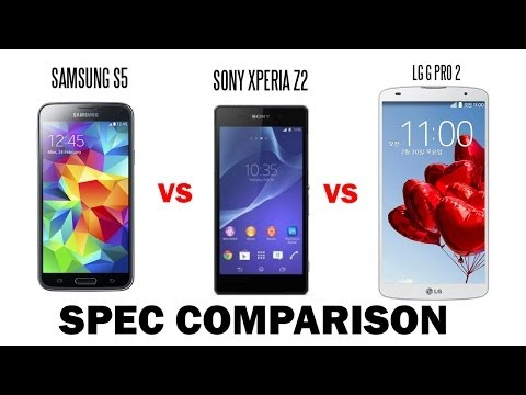 Samsung Galaxy S5 vs. Sony Xperia Z2 vs. LG G PRO 2 Comparison