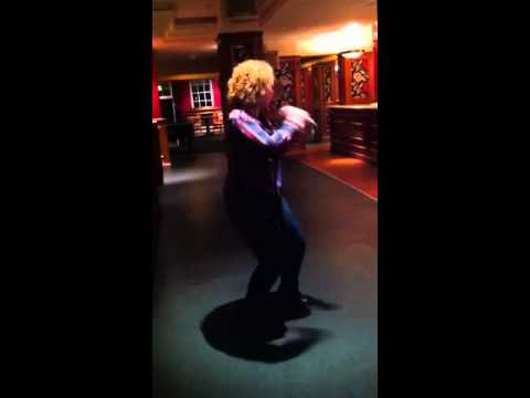 Charlotte 'Ginger Fizz' Browne gets her groove on at Crysta