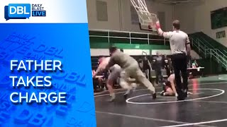 Father Tackles Son's Wrestling Opponent