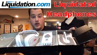 Liquidation Headphones $1,953 Value of Box #2 Liquidation.com Unboxing