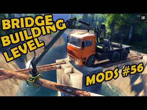 Spin Tires Mod Review #56 - Bridge Building Level