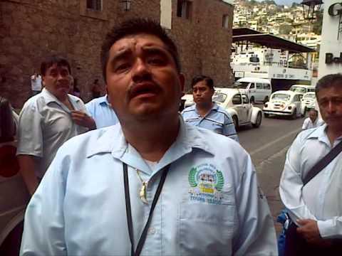 Choferes y Nuevas Conseciones Conflictos En Taxco 2015
