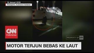 Viral! Pengendara Sepeda Motor Terjun Bebas Ke Dermaga Pelabuhan Nusantara