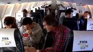 Leo   Messi y Antonela Roccuzzo rumbo a  Zurich