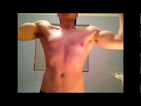 2014 WOW ! Hot Slim Flexing Chest And Biceps Video 1.0