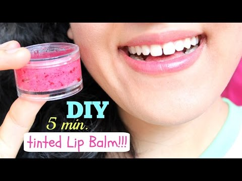 DIY 5 minute tinted lip balm