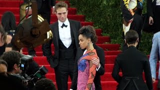 Robert Pattinson & FKA Twigs arrives at the red carpet of Met Gala 2015