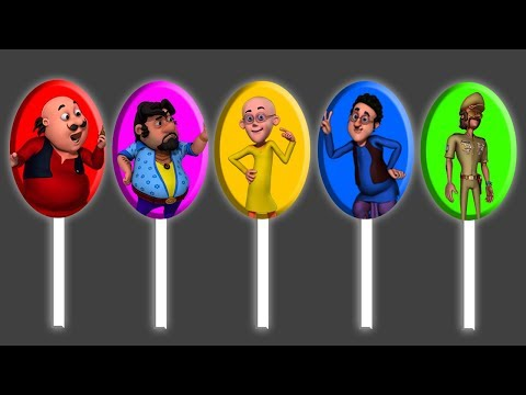 Motu Patlu Lollipops Finger Family Song Nursery Rhymes | Colors Learn