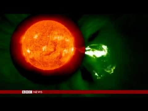 Solar flares  Footage released by Nasa   BBC News