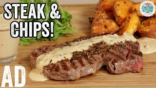 STEAK & PEPPERCORN SAUCE | EMOTION COOKBOOK #1 LOVE #ad