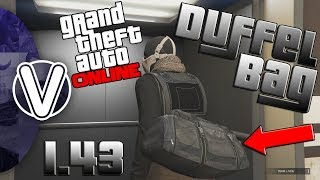 GTA 5 Online | How To Obtain The Black Duffle Bag 1.43 *100% WORKING* (GTA 5 Online Glitches)