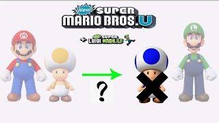 New Super Mario Bros. U Deluxe - No Blue Toad and Peachette? New Super Luigi. U?