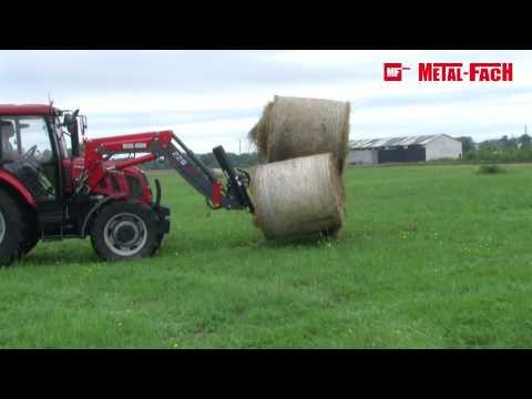 Osprzęty do ładowaczy czołowych - Chwytaki do bel Metal-Fach