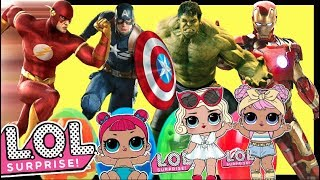 Lol Surprise Dolls Hulk Ironman Thor Captain America Toy Review