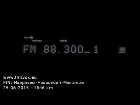 FM DX sporadic E in Holland: Finland 88.3 MHz Radio City
