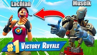 So I Beat Lachlan In Fortnite lol...