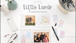 Little Lamb Baby Embellishments | Creative Memories Australia